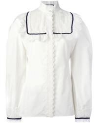 Белая кружевная блузка от Gucci