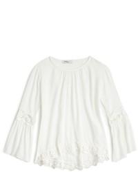 Белая кружевная классическая рубашка