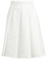 Белая кружевная пышная юбка