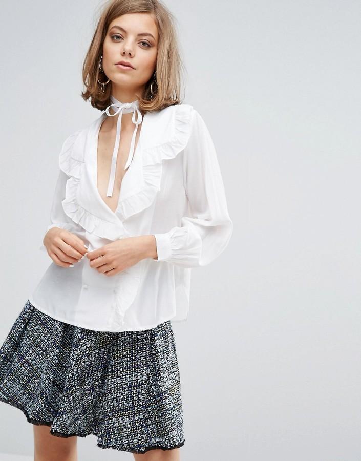 0718b0298b2 ... Женская белая кружевная рубашка от Sister Jane ...