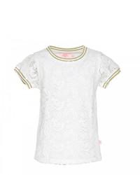 Белая кружевная футболка