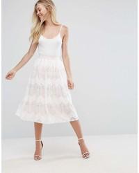Белая кружевная юбка-миди от Oh My Love