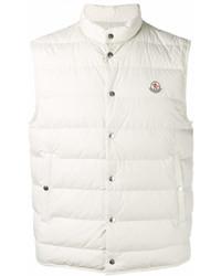 Белая куртка без рукавов