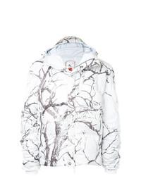 Мужская белая куртка-пуховик с принтом от Kru