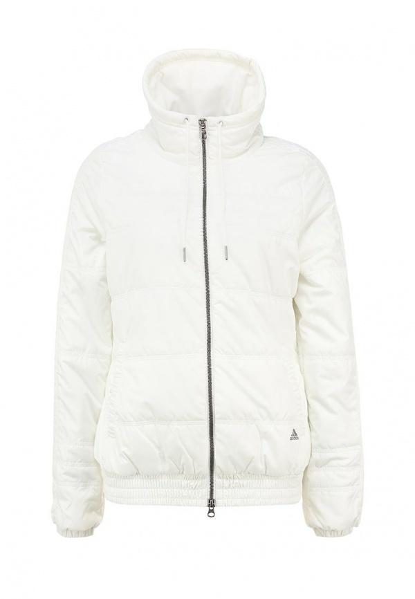 ed357fbc238 ... Женская белая куртка-пуховик от adidas Performance ...