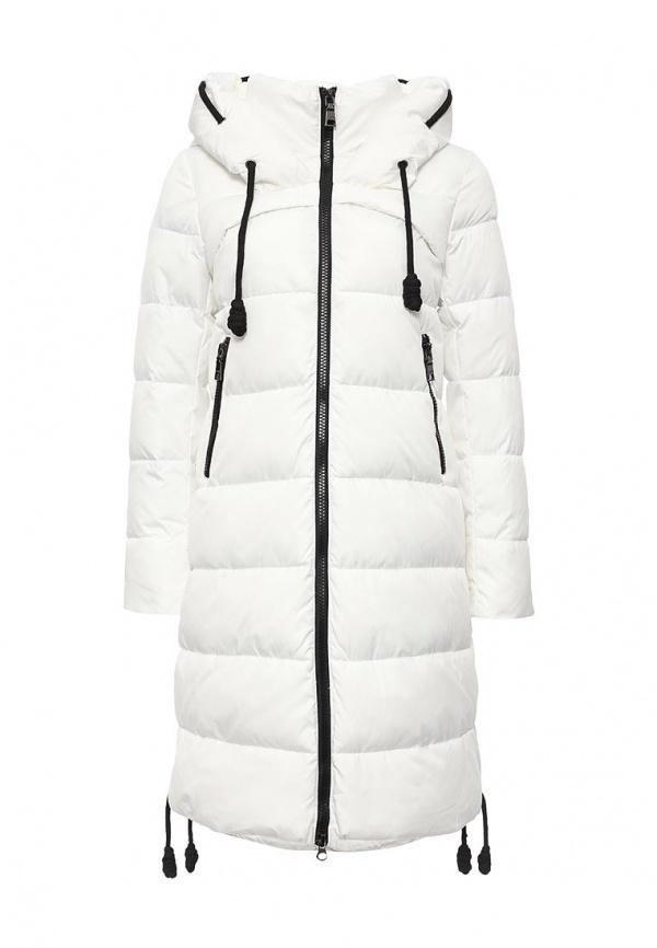 1f50ab010cf ... Женская белая куртка-пуховик от Clasna ...