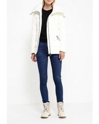 63f11737284 ... Женская белая куртка-пуховик от FiNN FLARE ...
