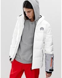Мужская белая куртка-пуховик от HIIT