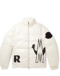 Мужская белая куртка-пуховик от Moncler