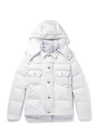 Мужская белая куртка-пуховик от Sacai