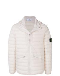 Мужская белая куртка-пуховик от Stone Island