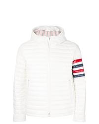Мужская белая куртка-пуховик от Thom Browne