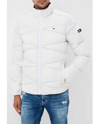 Мужская белая куртка-пуховик от Tommy Jeans