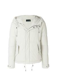 Мужская белая куртка-пуховик от Yves Salomon Homme