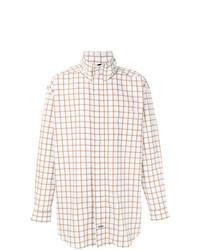 Белая куртка-рубашка с принтом