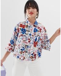 Женская белая куртка-рубашка с принтом от Essentiel Antwerp