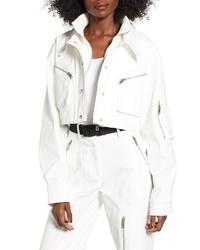 Белая куртка-рубашка