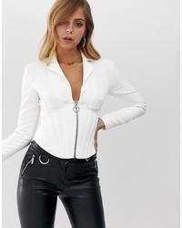Женская белая куртка-рубашка от ASOS DESIGN
