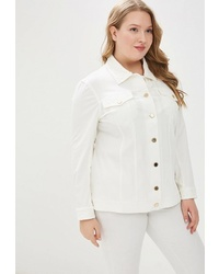 Женская белая куртка-рубашка от Averi