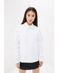 Женская белая куртка-рубашка от Helmut Lang