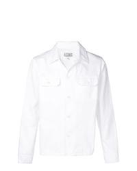 Мужская белая куртка-рубашка от Maison Margiela