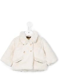 Детская белая меховая куртка для девочек