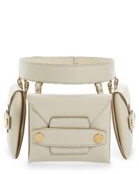 Белая поясная сумка