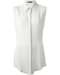 Белая рубашка без рукавов