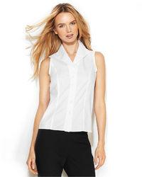 Женская белая рубашка без рукавов от Calvin Klein