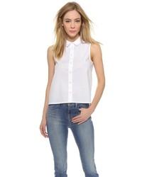 Женская белая рубашка без рукавов от J Brand
