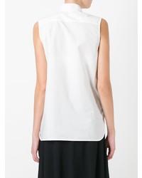 Женская белая рубашка без рукавов от Marni