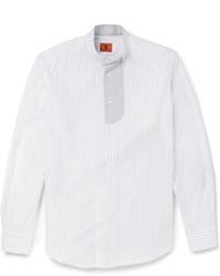 Мужская белая рубашка с длинным рукавом в вертикальную полоску от Barena