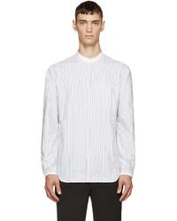 Мужская белая рубашка с длинным рукавом в вертикальную полоску от Tim Coppens