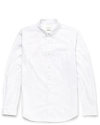 Мужская белая рубашка с длинным рукавом в горошек от Club Monaco