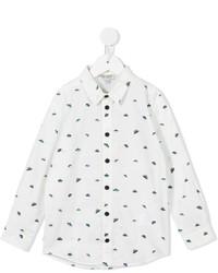 Детская белая рубашка с длинным рукавом с принтом для мальчику от Kenzo