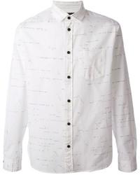 Мужская белая рубашка с длинным рукавом с принтом от Marc by Marc Jacobs