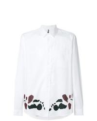 Мужская белая рубашка с длинным рукавом с принтом от Oamc