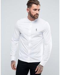 Мужская белая рубашка с длинным рукавом с принтом от Religion