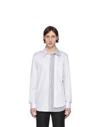 Мужская белая рубашка с длинным рукавом от Alexander McQueen