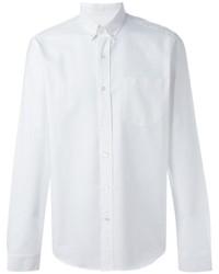 Мужская белая рубашка с длинным рукавом от AMI Alexandre Mattiussi