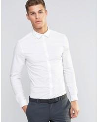 Мужская белая рубашка с длинным рукавом от ASOS DESIGN