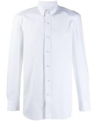 Мужская белая рубашка с длинным рукавом от Boglioli