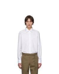 Мужская белая рубашка с длинным рукавом от Burberry