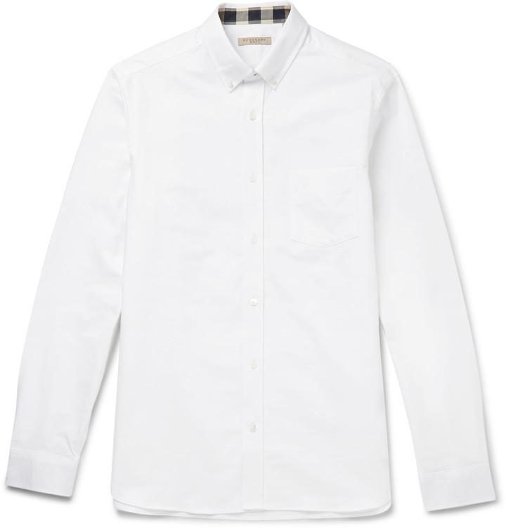 6ca98eff096 ... Мужская белая рубашка с длинным рукавом от Burberry ...
