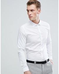 Мужская белая рубашка с длинным рукавом от Burton Menswear