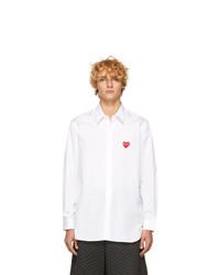 Мужская белая рубашка с длинным рукавом от Comme Des Garcons Play
