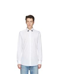 Мужская белая рубашка с длинным рукавом от Dolce and Gabbana