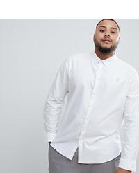 Мужская белая рубашка с длинным рукавом от Farah