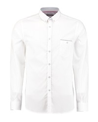 Мужская белая рубашка с длинным рукавом от Florentino