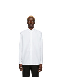 Мужская белая рубашка с длинным рукавом от Givenchy